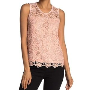 Nanette Lepore  peach lace tank top